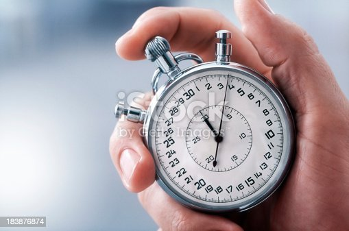 Male hand with classic stopwatch. (XXL-File)