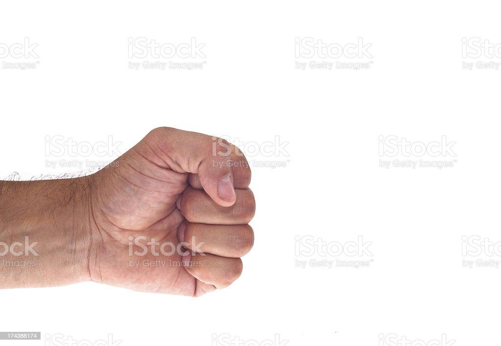 Mano con un pugno clenched - foto stock
