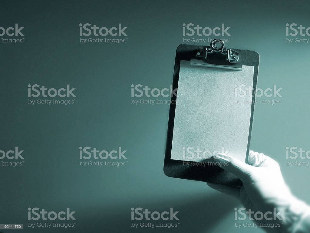 Hand with Clipboard royalty-free stock photo