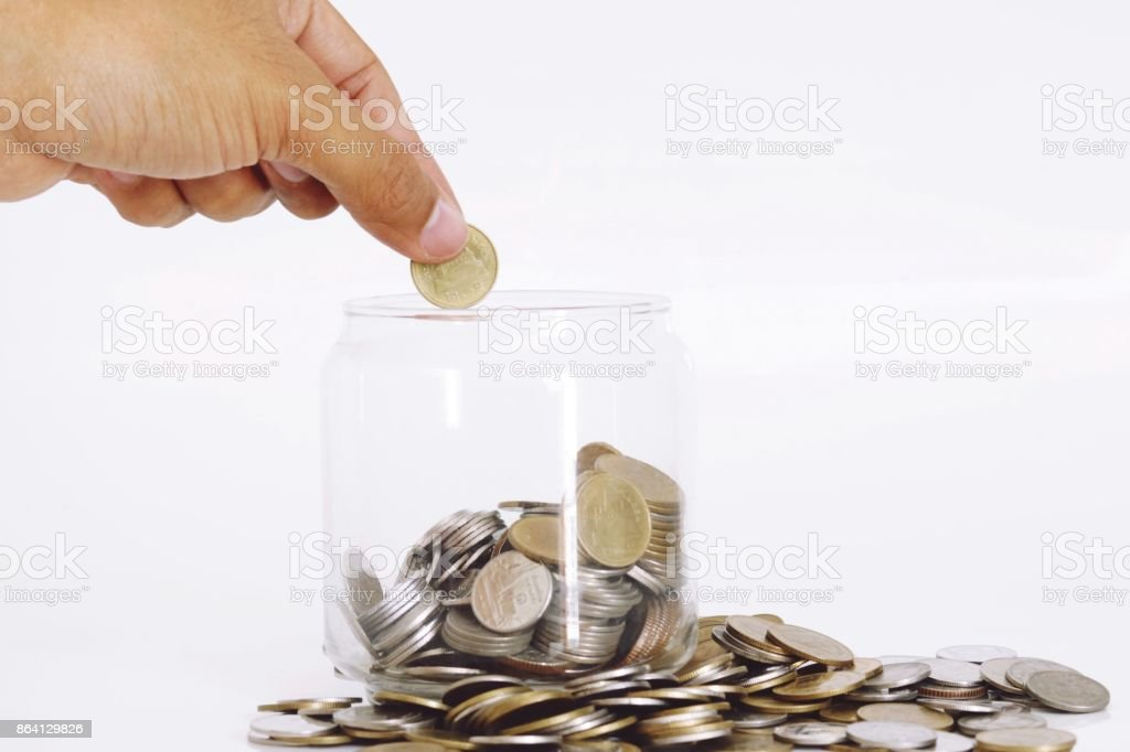 hand with Coins royalty-free stock photo