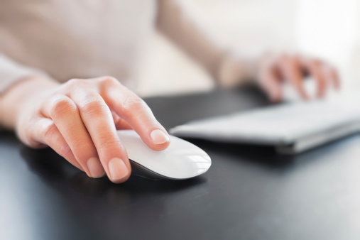 Hand with Computer Mouse
