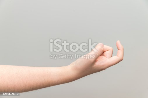 istock Hand with curl index finger 452025017