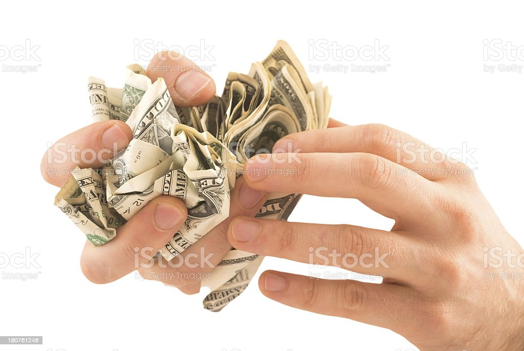 hand with dollar money stock photo