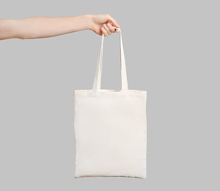 Hand with eco bag