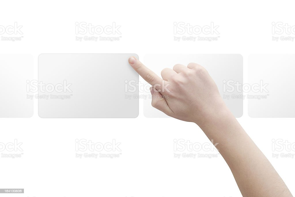 Hand with frame stock photo