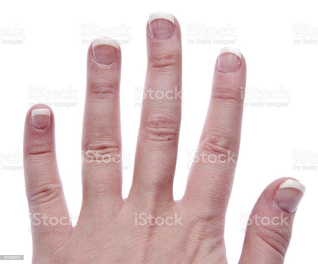 Hand with French Manicure royalty-free stock photo