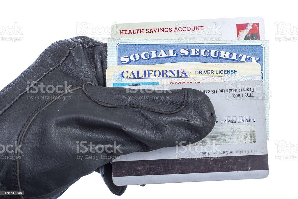 手に持つ特定の文書の手袋 ストックフォト