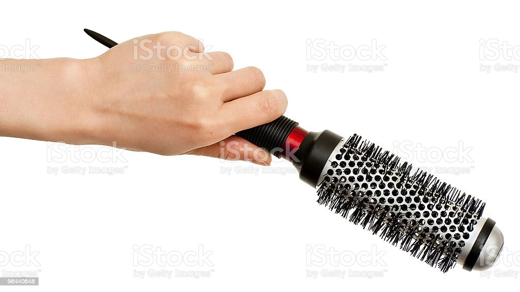 Hand with hairbrush - Royalty-free Barber Stock Photo