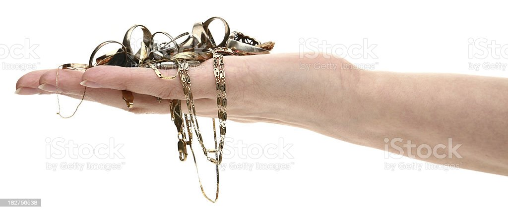 hand with jewelry royalty-free stock photo