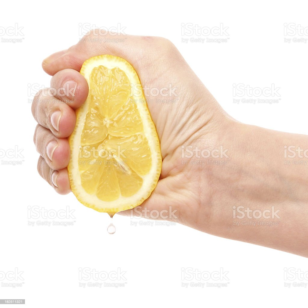 Hand with Lemon stock photo