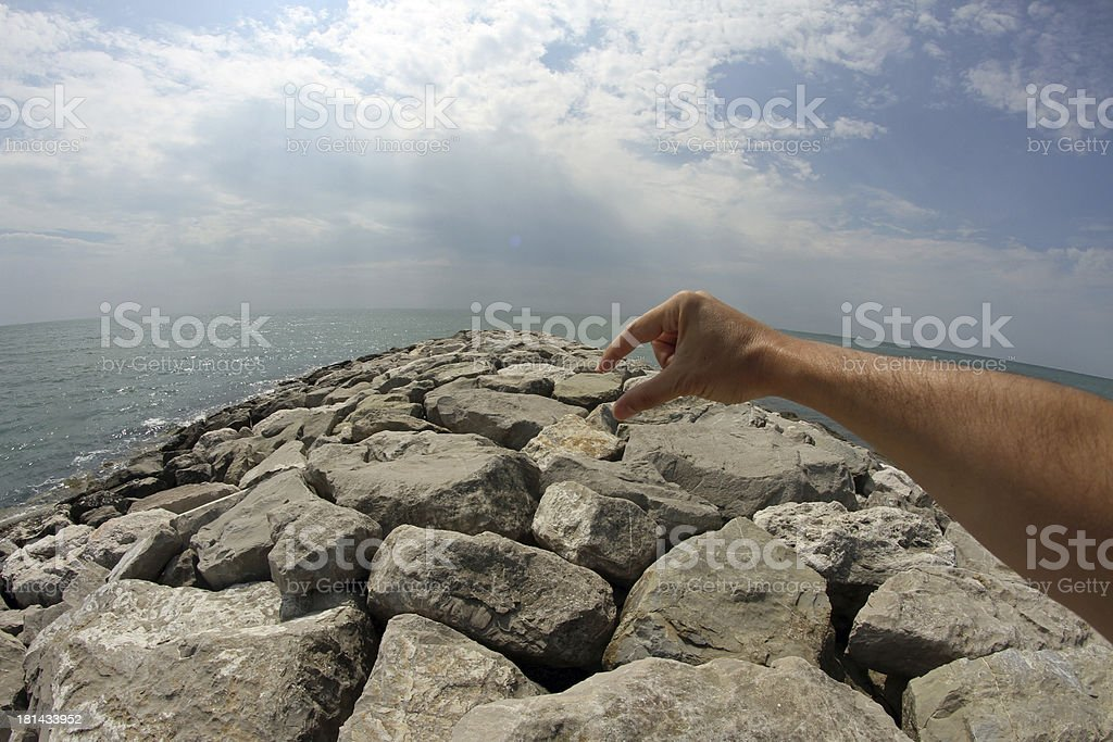 hand with  long arm system royalty-free stock photo
