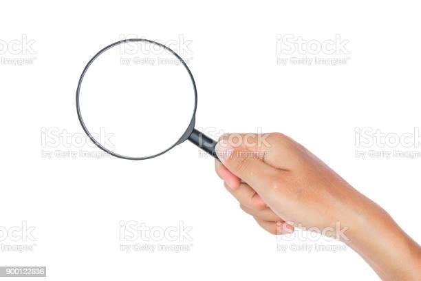 Hand with magnifying glass on white background picture id900122636?b=1&k=6&m=900122636&s=612x612&h=b8lhzvszy0yuaveimawjfkdclbmmlib8cptn1sfo4ss=