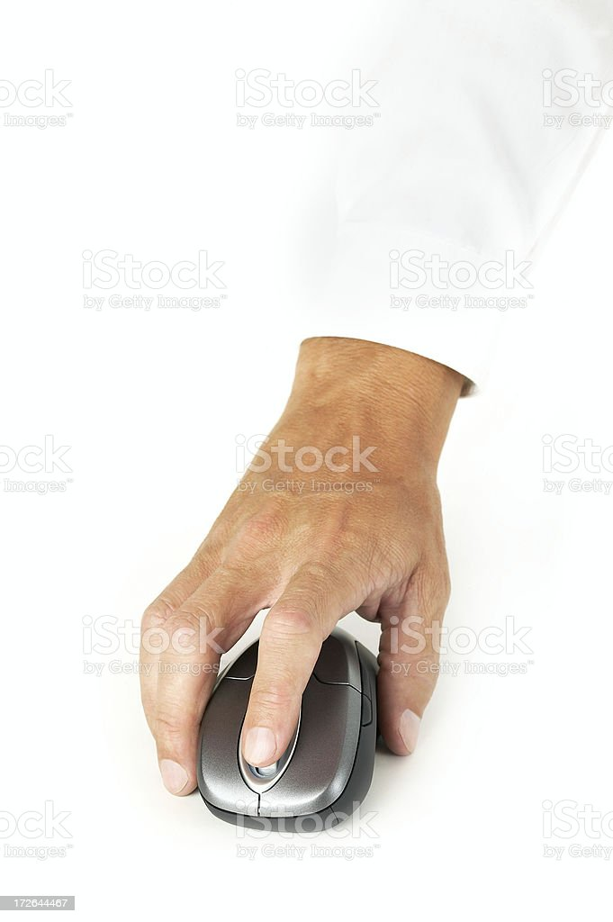 Hand with mouse royalty-free stock photo