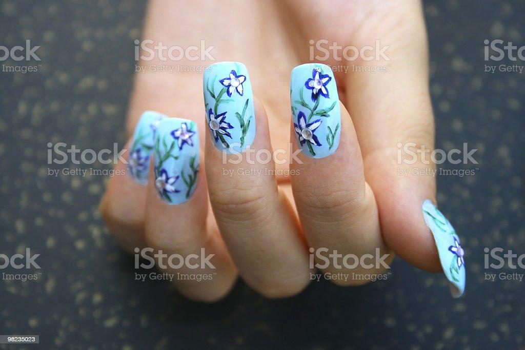 Hand with nail art royalty-free stock photo