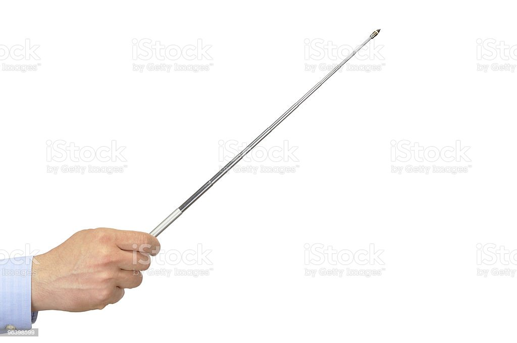 Hand with Pointer - Royalty-free Caucasian Ethnicity Stock Photo