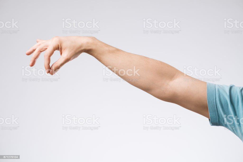 Hand with signs stock photo