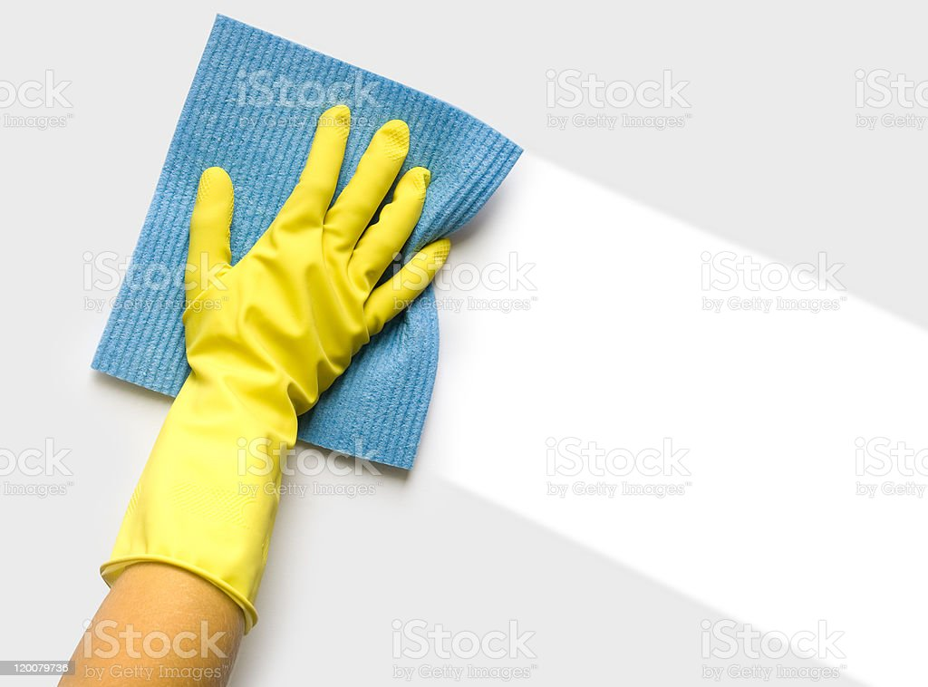 Hand with sponge royalty-free stock photo