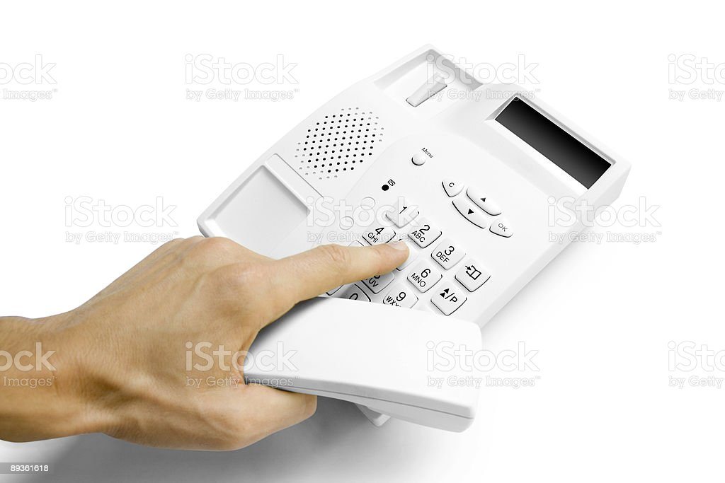 hand with telephone royalty free stockfoto
