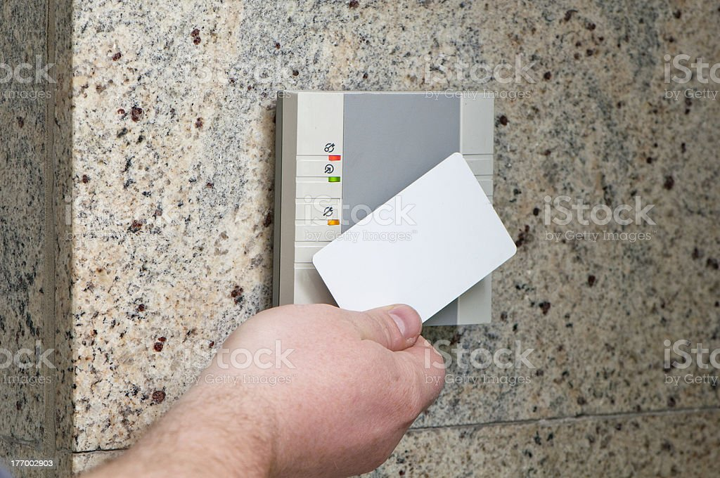 hand with the card access stock photo