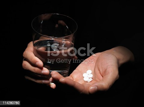 istock Hand with the drug. 114280780