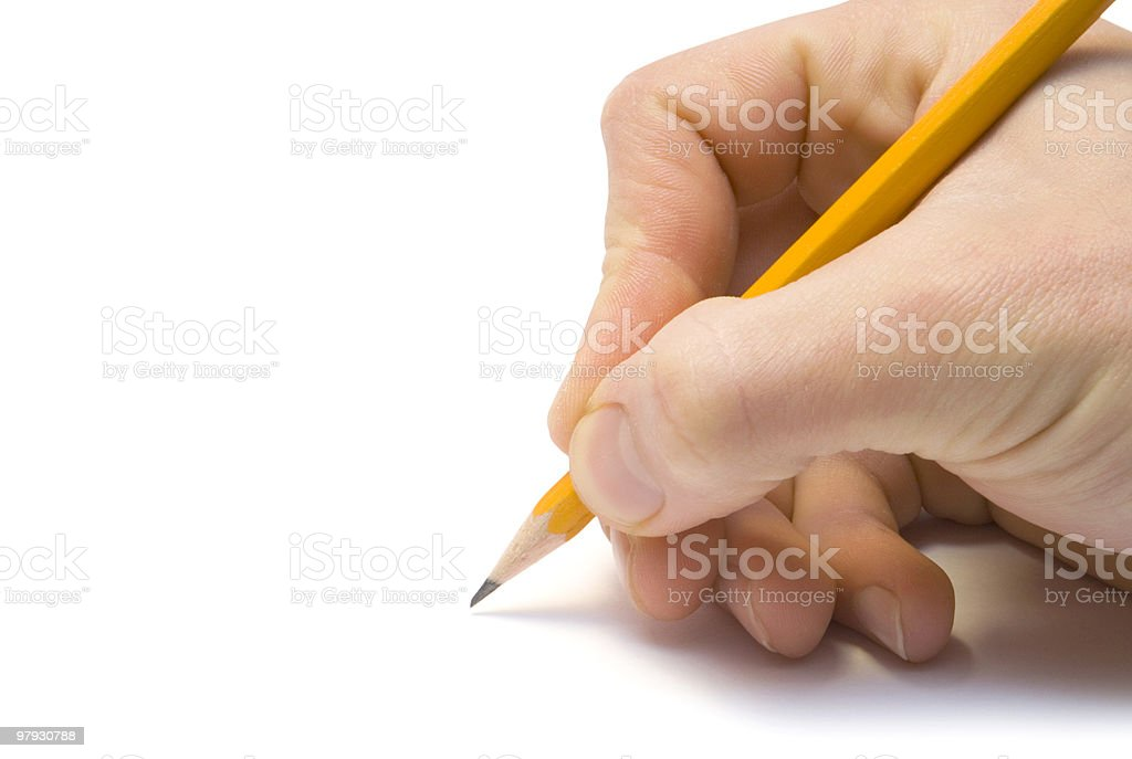 hand with the pencil royalty-free stock photo