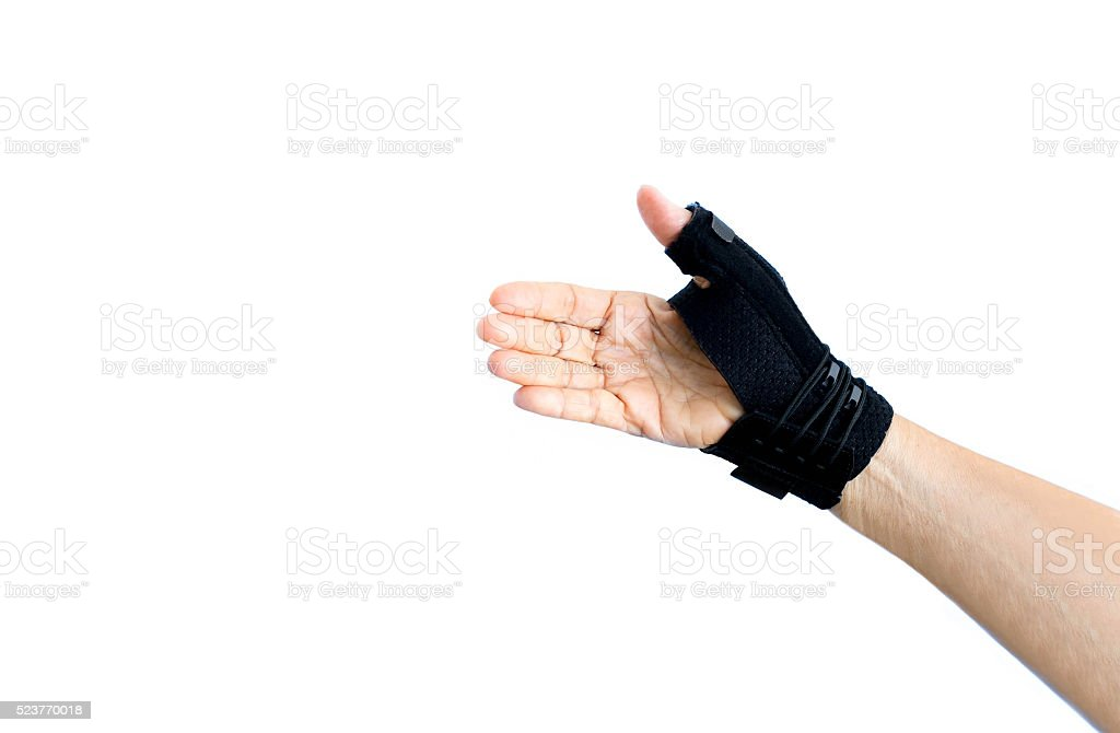 Hand with wrist support isolated stock photo