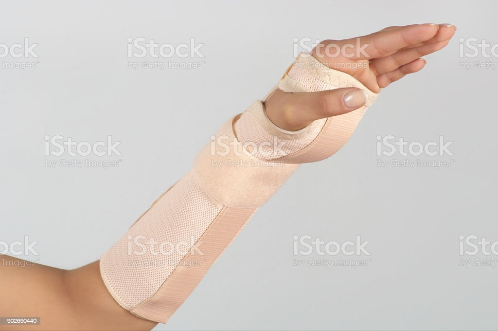 Hand With Wrist Support Stock Photo & More Pictures of