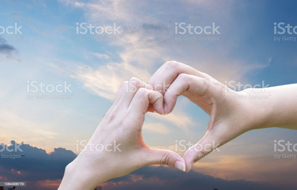 Hand Woman Heart Shape Love Separated From The Background