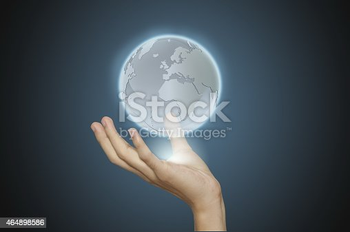 522382893istockphoto Hand working with social network structure. 464898586