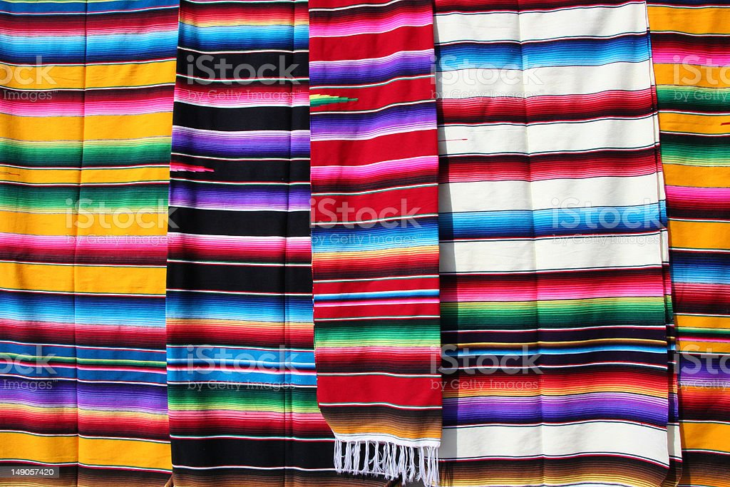 Hand woven clothes stock photo