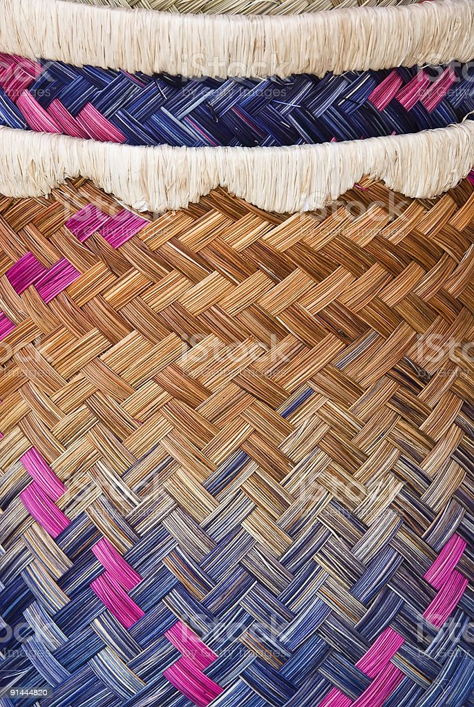Hand woven product 2 stock photo