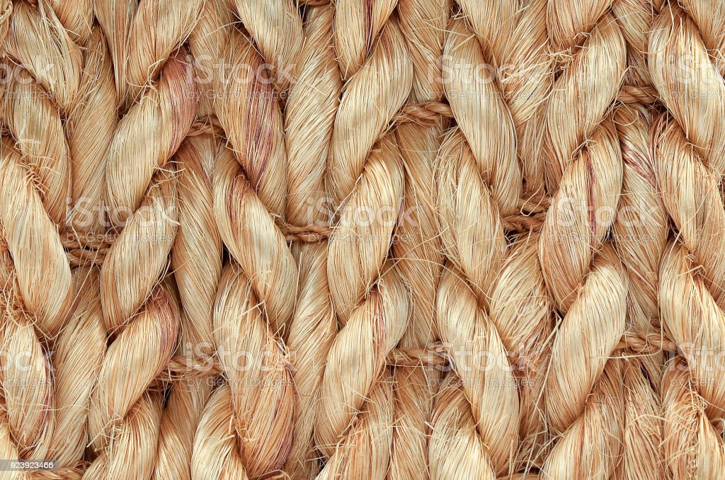 Hand Woven / Tied Rug Detail. stock photo