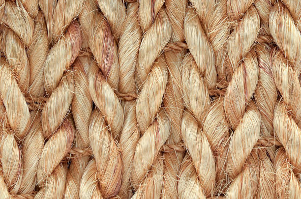 hand woven / tied rug detail. - sisal stock pictures, royalty-free photos & images