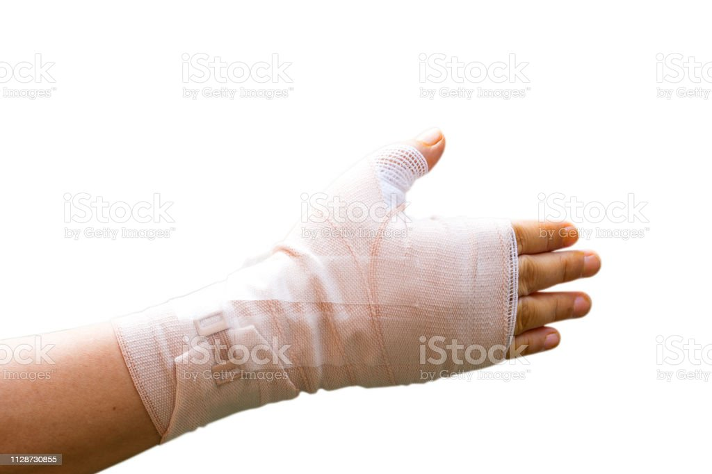 Hand Wrapped Elastic Bandage After Percutaneous Trigger Finger