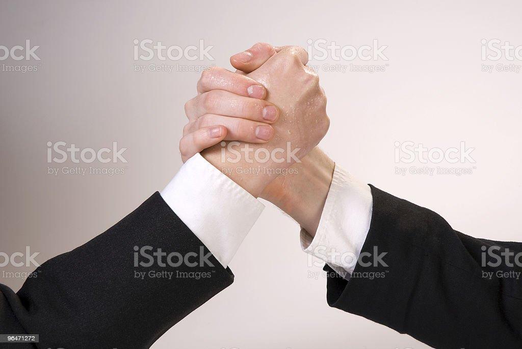 Hand wrestling royalty-free stock photo