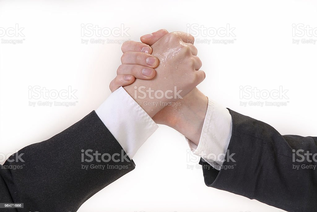 Hand wrestling royalty-free stock photo