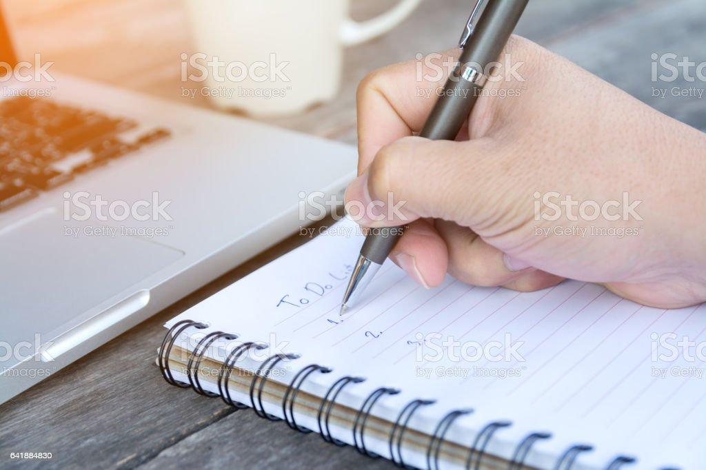 hand write to do list on notebook hand write to do list on notebook To Do List Stock Photo