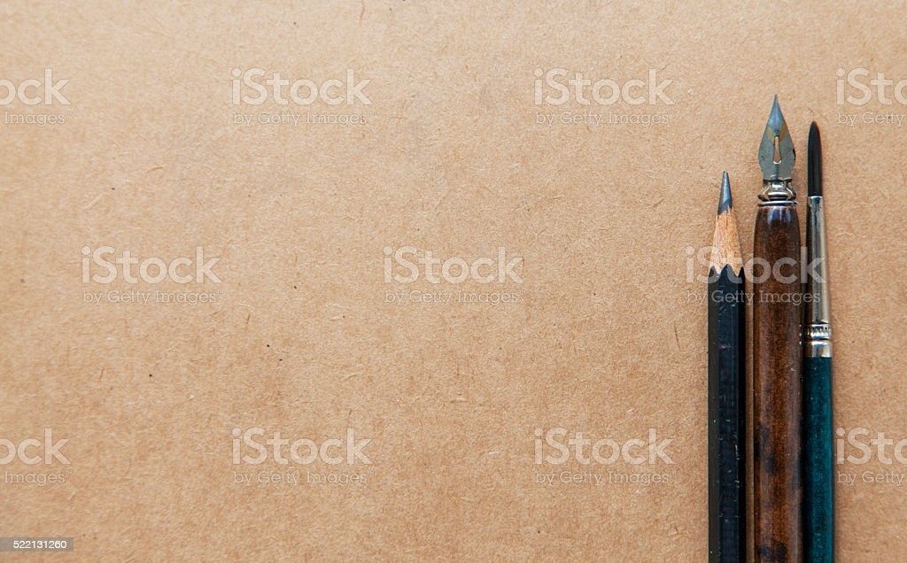 Hand writing and calligraphy background stock photo