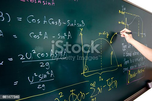 Hand Writing Complicated Math Equation Stock Photo & More Pictures ...