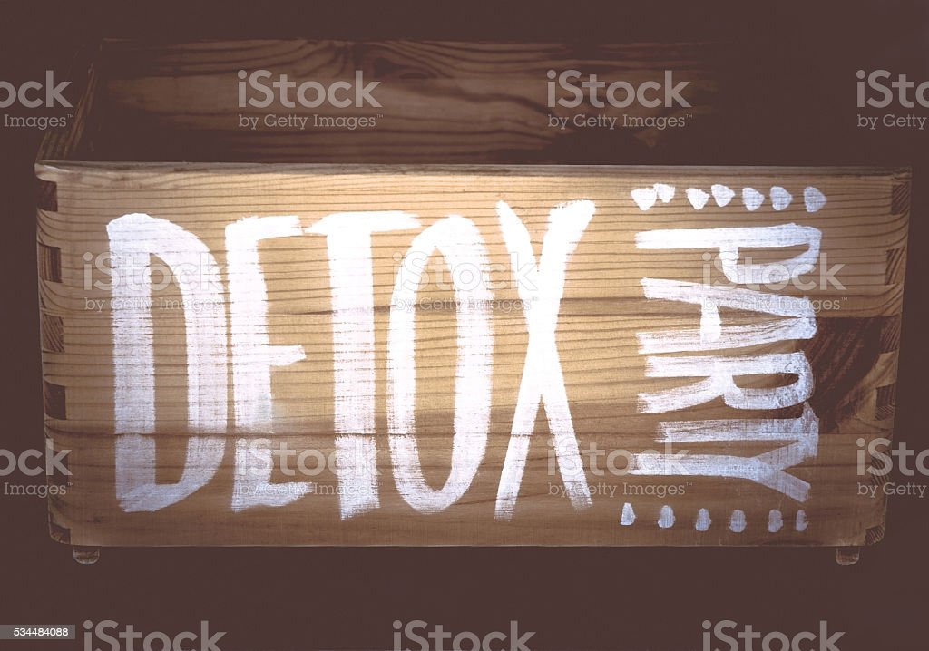 Hand writing Detox Party stock photo
