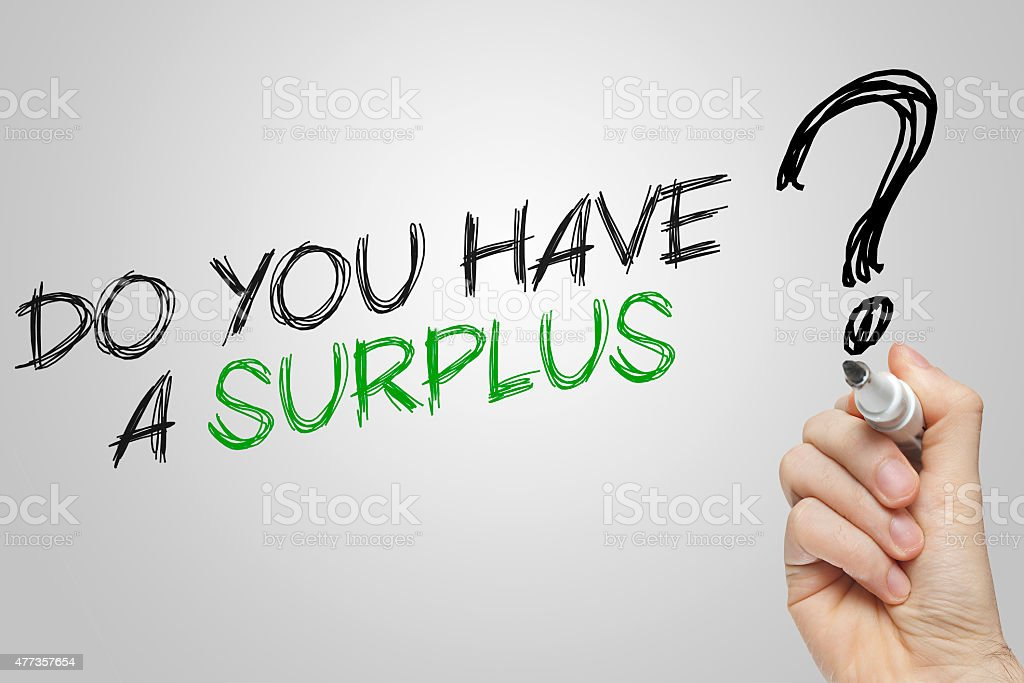 Hand Writing Do You Have A Surplus Stock Photo & More Pictures of