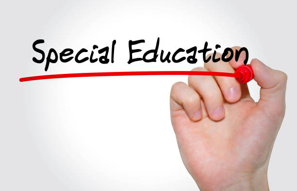 Hand writing inscription Special Education with marker, concept - foto stock