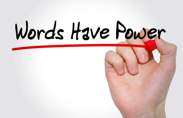 hand writing inscription words have power with marker, concept - single word stock photos and pictures