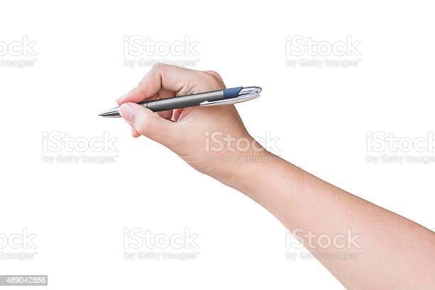 Pen writing hand