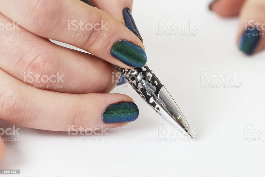 hand writing royalty-free stock photo