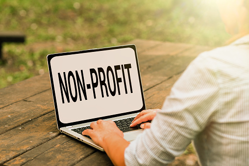 Handwriting text NonProfit, Internet Concept not making or conducted primarily to make profit organization Voice And Video Calling Capabilities Connecting People Together