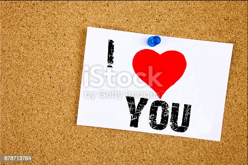 1068057246 istock photo Hand writing text caption inspiration showing I Love Thank You concept meaning Giving Gratitude Appreciate Message Loving written on sticky note, reminder isolated background with copy space 878713764
