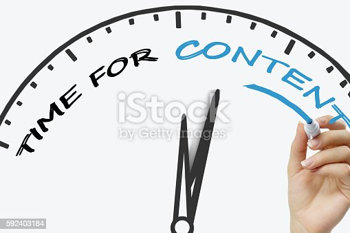 1045434476 istock photo Hand writing Time For New Content  concept with blue marker 592403184