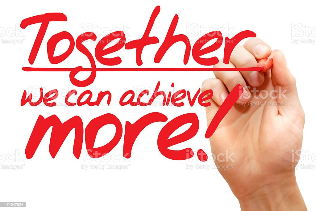 together many of us may well essay
