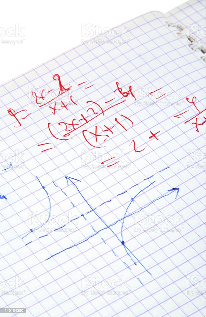 hand written maths calculations royalty-free stock photo